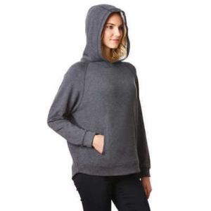 32 Degrees Heat Women's Gray Lined Pullover Hoodie